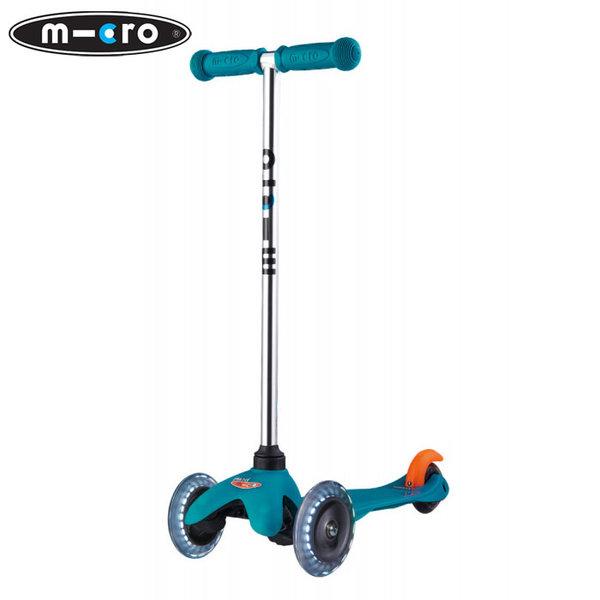 Micro - Детска тротинетка с три колела MINI MICRO LED Aqua MM0285
