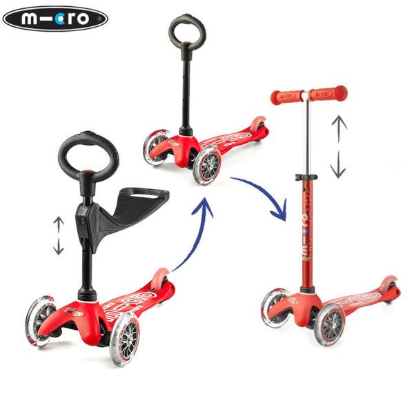 Micro - Детска тротинетка с три колела MINI MICRO 3в1 Deluxe Red MMD015