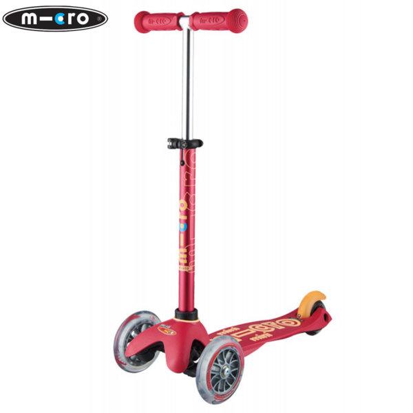 Micro - Детска тротинетка с три колела MINI MICRO DELUXE Rubine Red MMD054