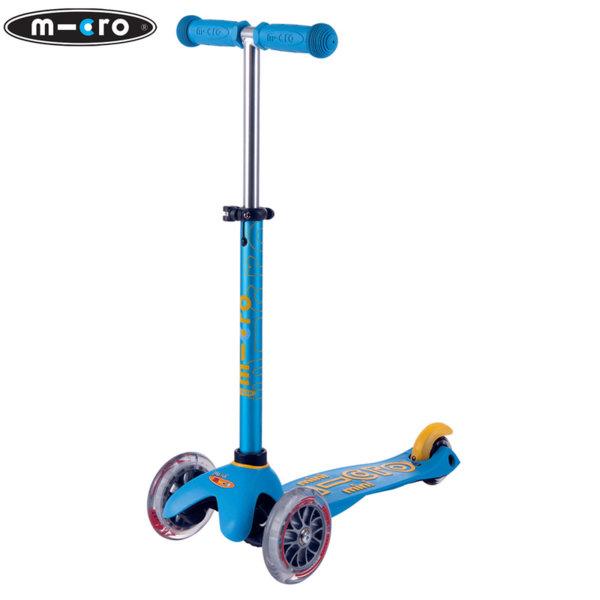 Micro - Детска тротинетка с три колела MINI MICRO DELUXE Ocean Blue MMD046