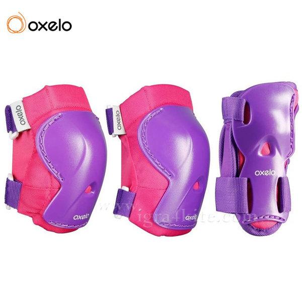 Oxelo - Комплект протектори Play лилави