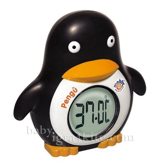 Mebby - Термометър-часовник Пингвин