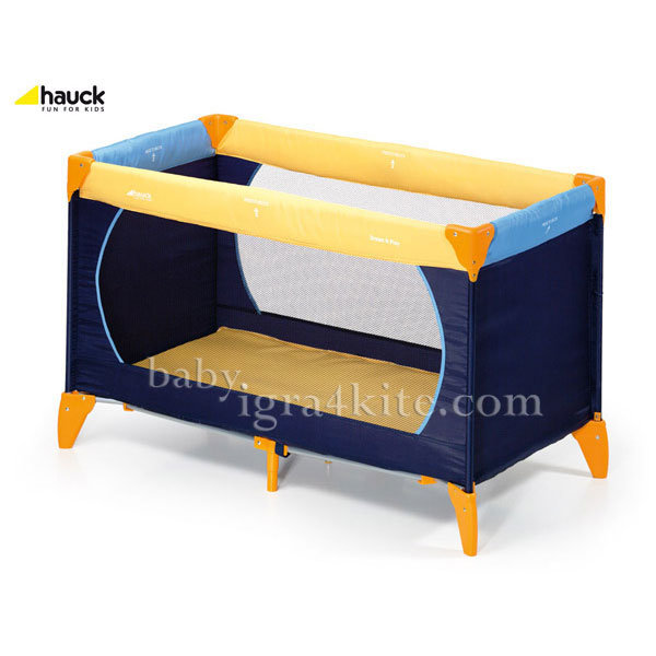 Hauck - Бебешка кошара Dream'n Play Yellow/Blue/Navy 604038