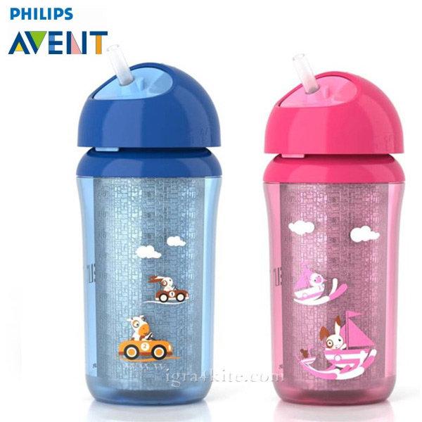 Philips AVENT - Термоизолирана чаша със силиконова сламка 260ml 0482