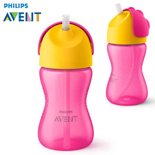 Philips AVENT - Бебешка чаша със сламка 300 ml, 12м+ 0521 розова