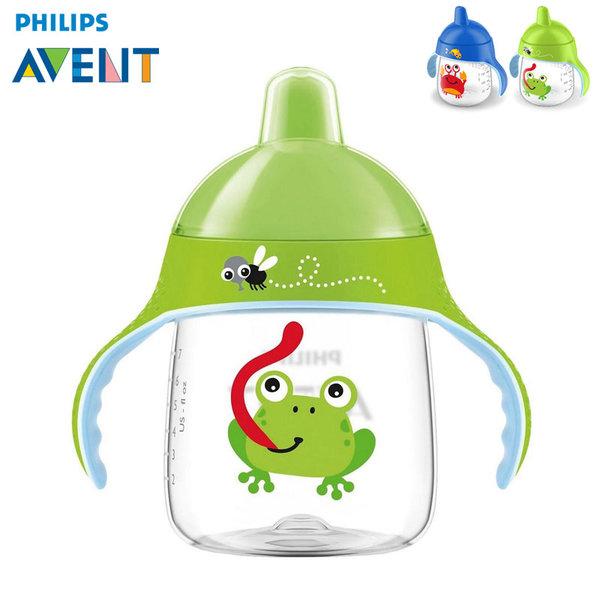 Philips AVENT - Неразливаща се чаша с твърд накрайник 260мл 12м+ 0487 Жабка
