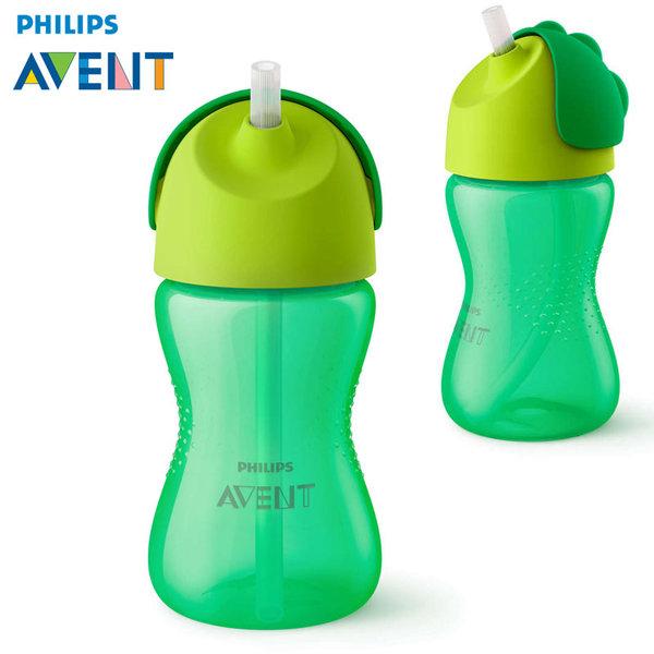 Philips AVENT - Бебешка чаша със сламка 300 ml, 12м+ 0521 зелена