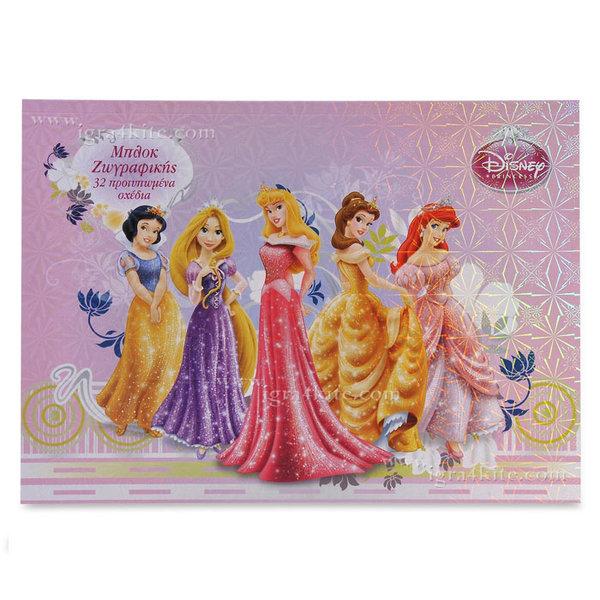 Disney Princess - Блок за рисуване и оцветяване Дисни Принцеси