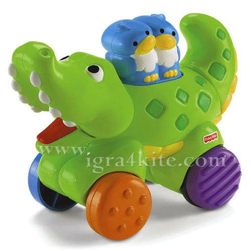 Fisher Price - Забавен Крокодил Press & Go N8160