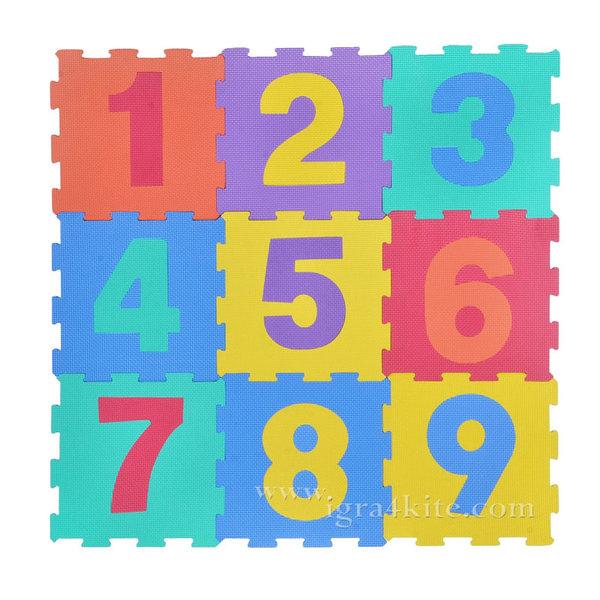 Мек килим пъзел - Числа 9 части 16132