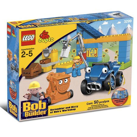 Lego 3299 Bob Builder - Скрамблър и Дизи в работилницата на Бо