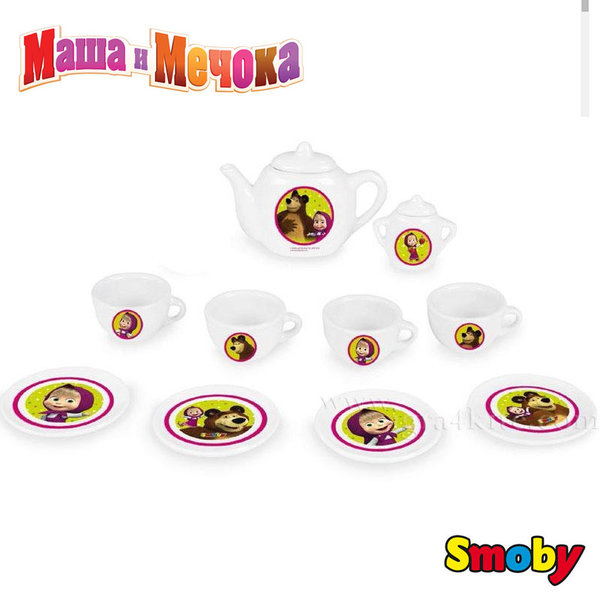 Smoby - Маша и мечока Порцеланов сервиз за чай 310514