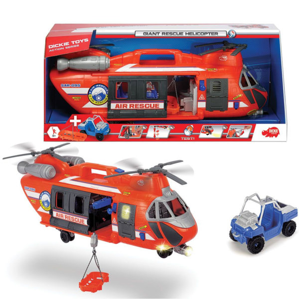 Simba Dickie - Спасителен хеликоптер със звук и светлина 30900