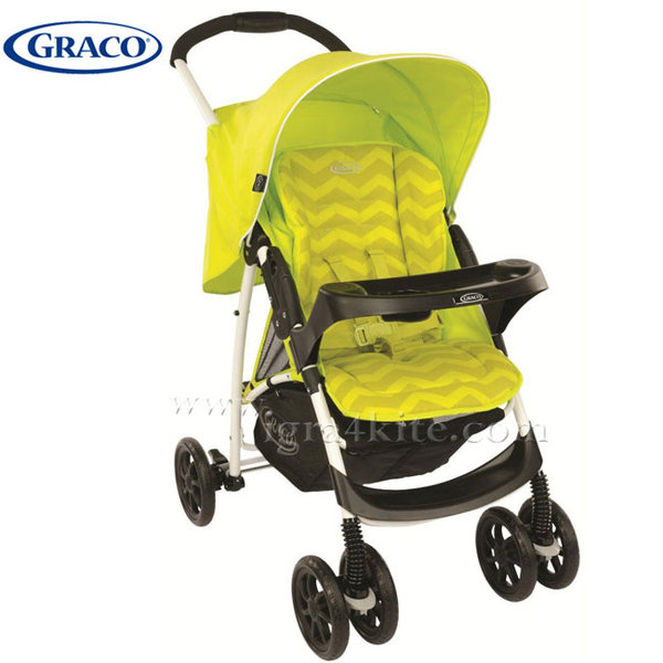 Graco - Комбинирана бебешка колича Mirage Lime Zig-Zag G6M195LZGU