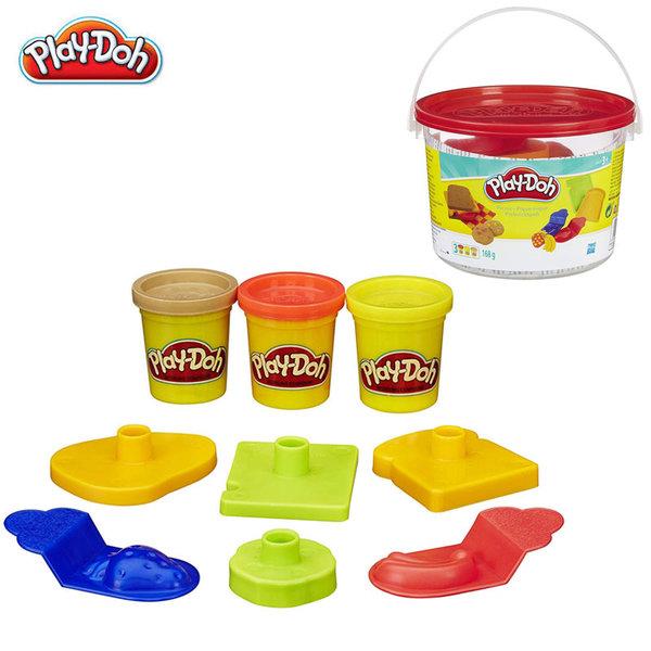PlayDoh - Комплект 4 цвята пластелини + формички - закуска 23414