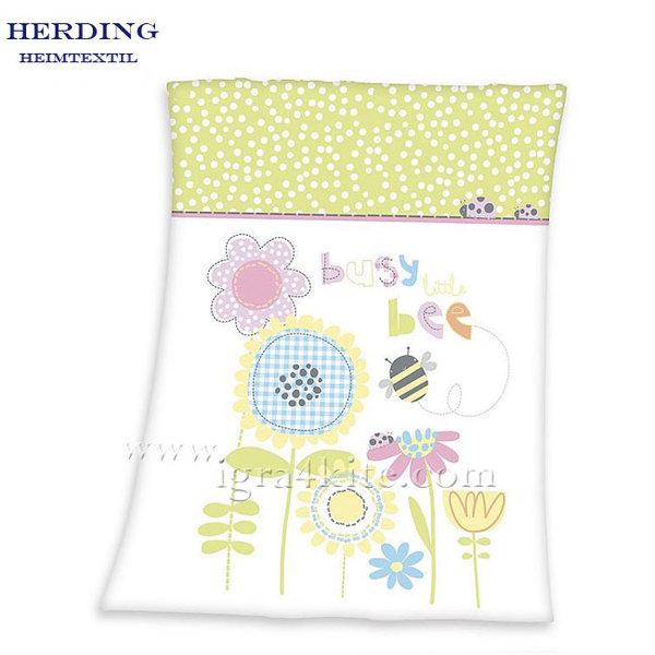 Herding - Бебешко одеяло Цветя и пчеличка