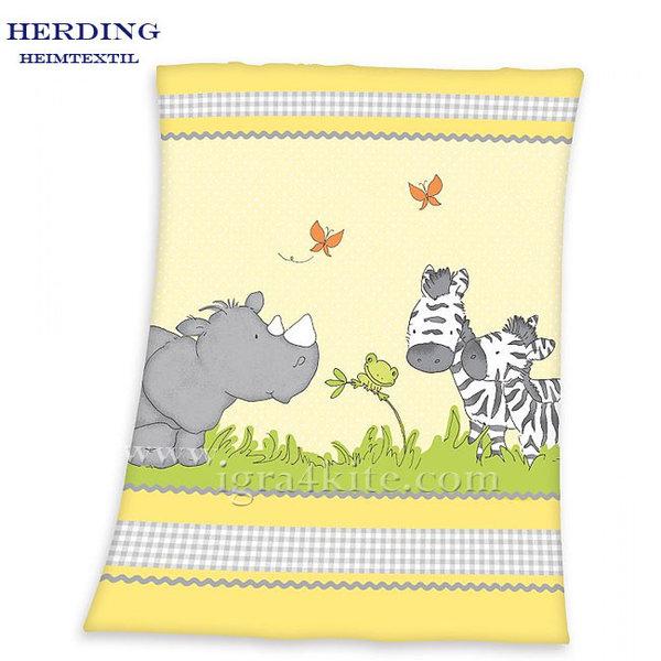 Herding - Бебешко одеяло Малки приятели