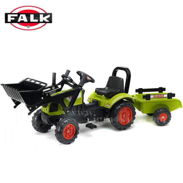 Falk - Детски трактор с ремарке и лопата CLAAS 410 2040AM
