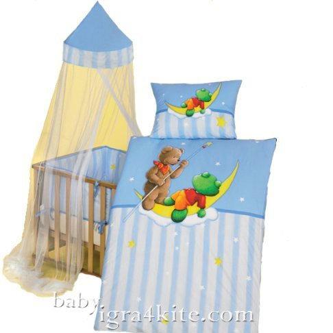 """Herding - Бебешки спален комплект Carola """"Сладкия сън на Мечо"""""""