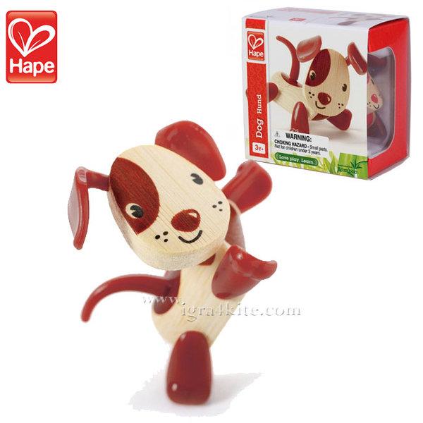 Hape - Детска дървена мини животинка от бамбук Куче H5533