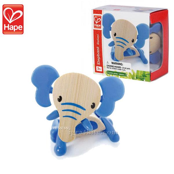 Hape - Детска дървена мини животинка от бамбук Слон H5539