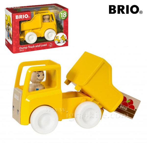 Brio - Дървено камионче с товар 30373