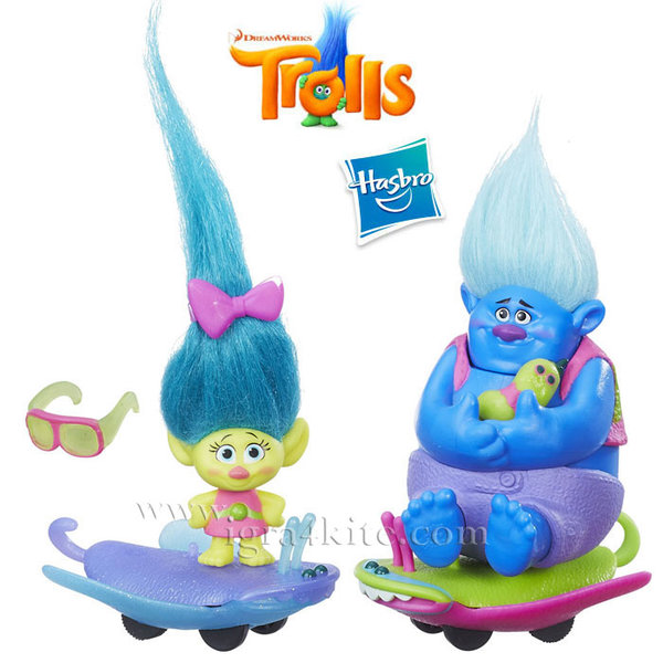 Trolls - Игрален комплект Тролчета със скейтборд 6558