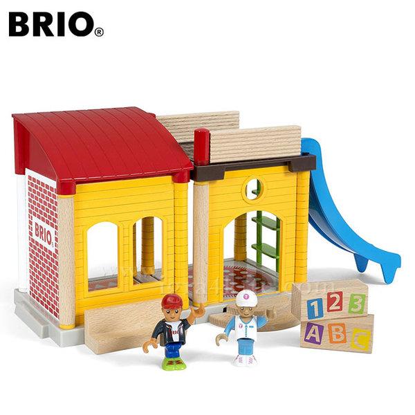 Brio Village - Дървено училище с пързалка 33943