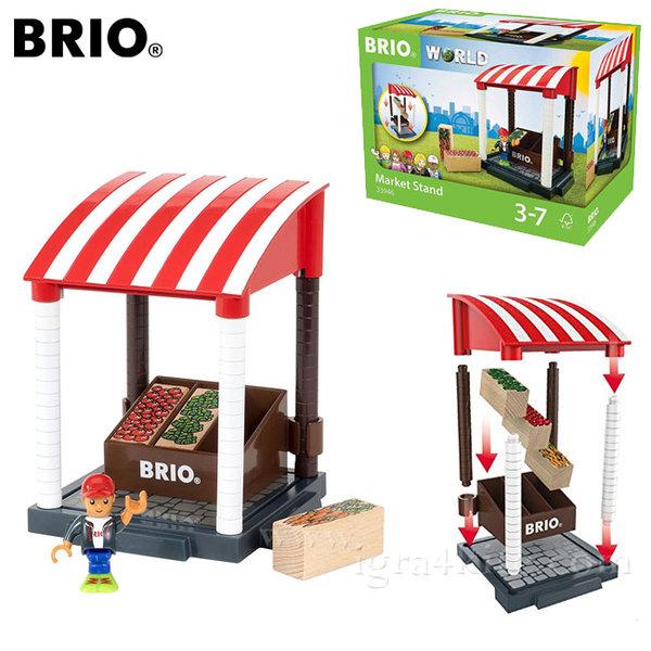 Brio Village - Дървен щанд за пазаруване 33946