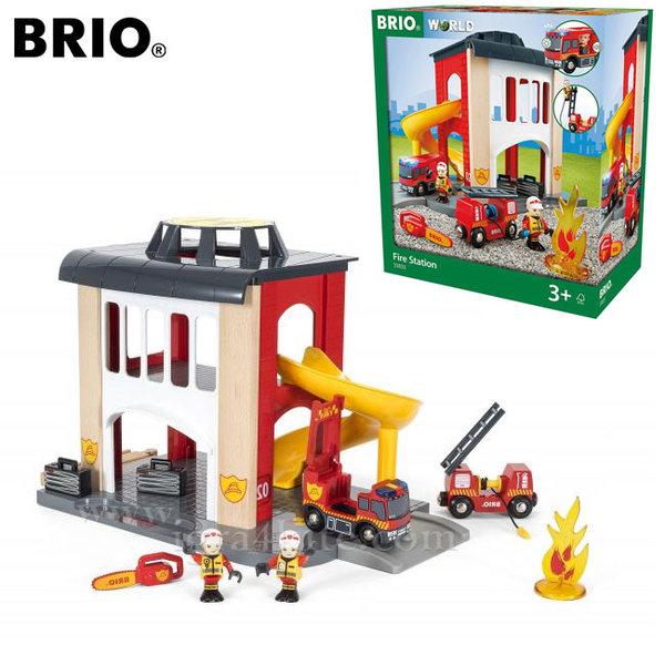 Brio - Дървена пожарна станция 33833