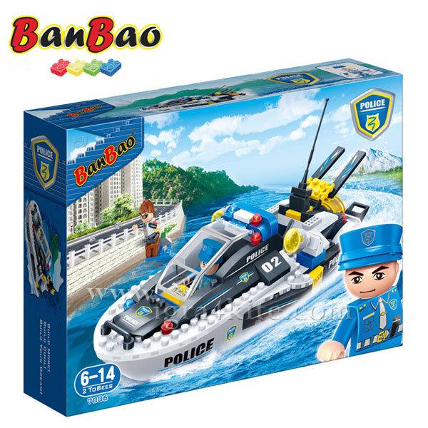 BanBao - Строител 6+ Полицейска лодка 7006