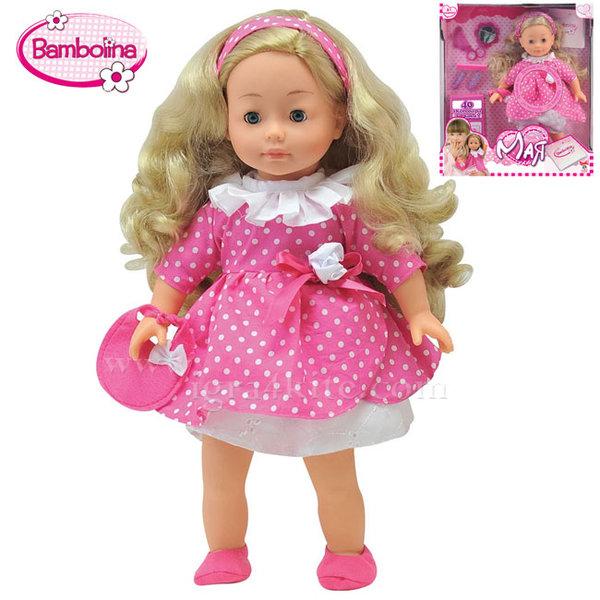 Bambolina - Интерактивна говореща кукла Мая с аксесоари за коса 1306