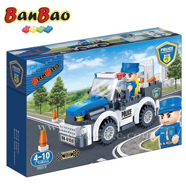 BanBao - Строител 4+ Полицейска кола 7017