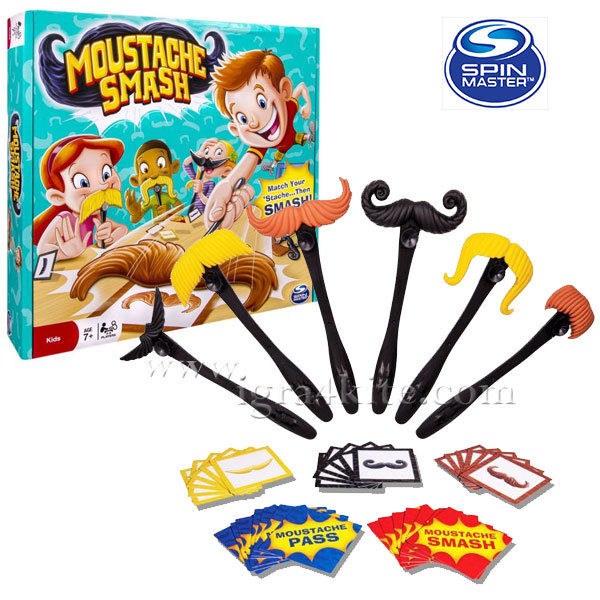 Spin Master - Забавна игра за бързина Удари мустака 6026698