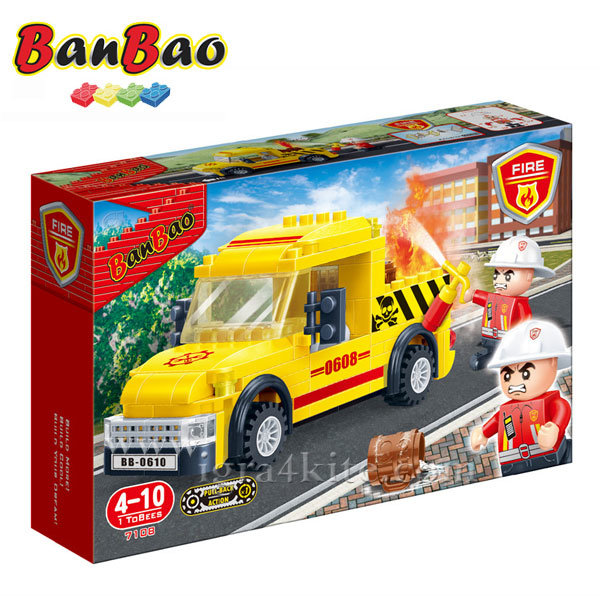 BanBao - Строител 6+ Пожарен камион 7108