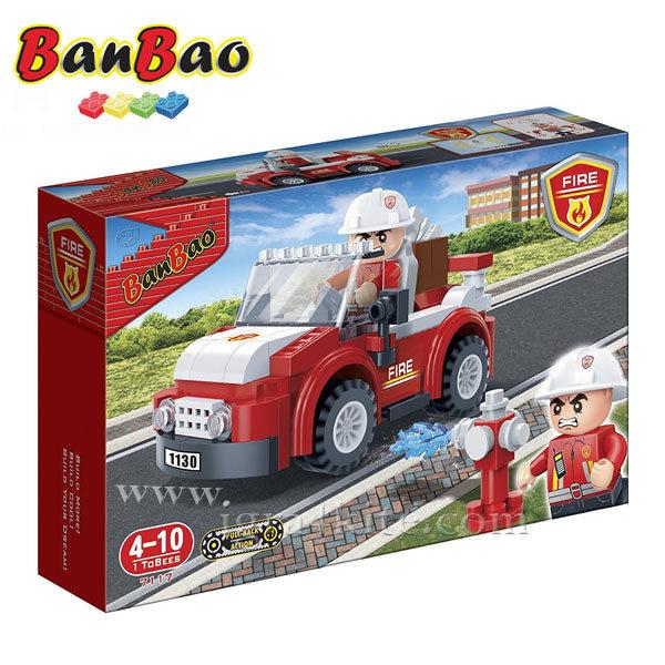 BanBao - Строител 4+ Пожарникар с кола 7117