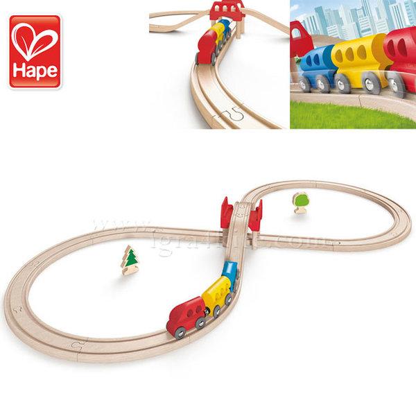 Hape - Дървено влакче с трасе осморка H3700