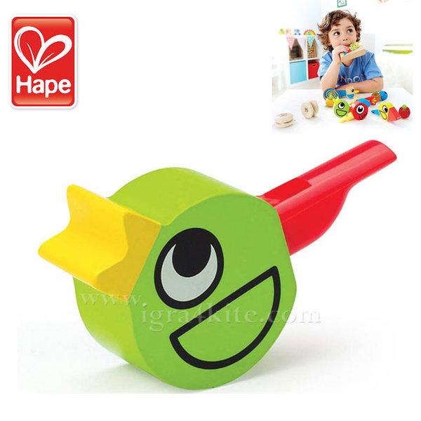 Hape - Детска дървена свирка Птиче H1026