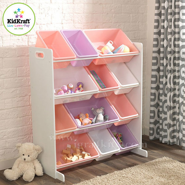 Kidkraft - Детска дървена етажерка за играчки 15450