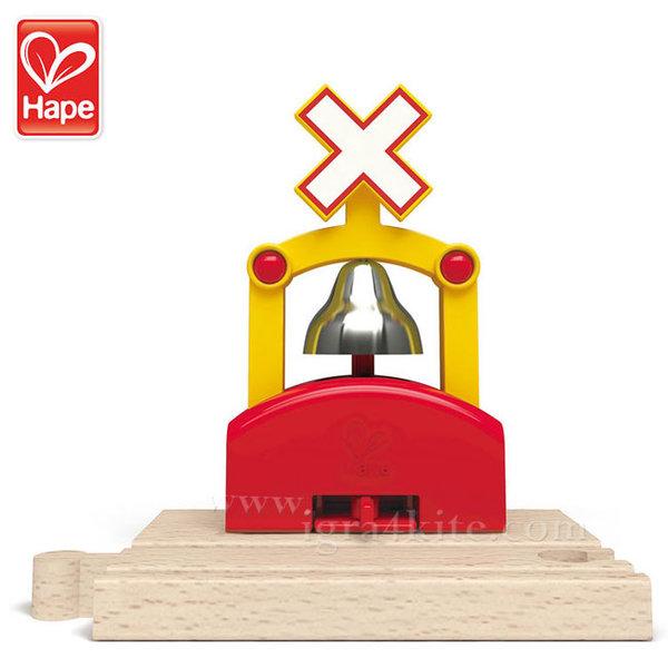 Hape - Дървен автоматичен влаков звънец H3706
