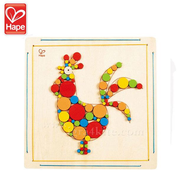 Hape - Дървена мозайка Петел H5129