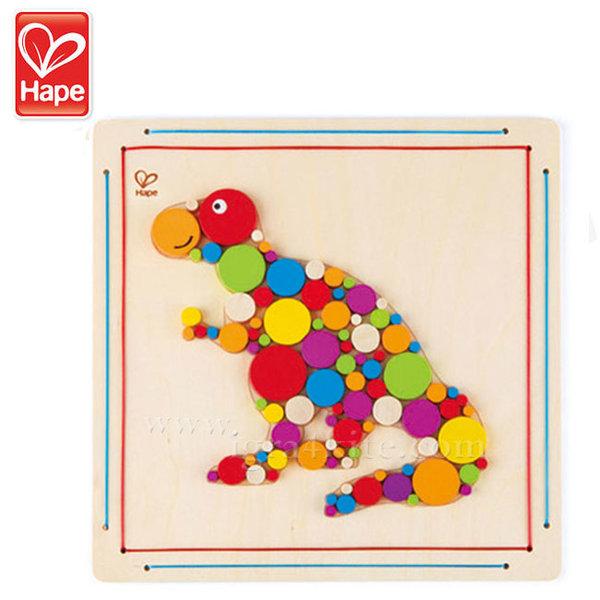 Hape - Дървена мозайка Динозавър Рекс H5138