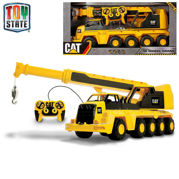 Toy State - Голям кран с дистанционно управление CAT със звук и светлина 36663