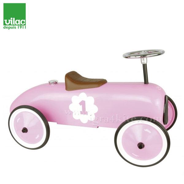 Vilac - Метална розова кола за бутане с крачета 1120