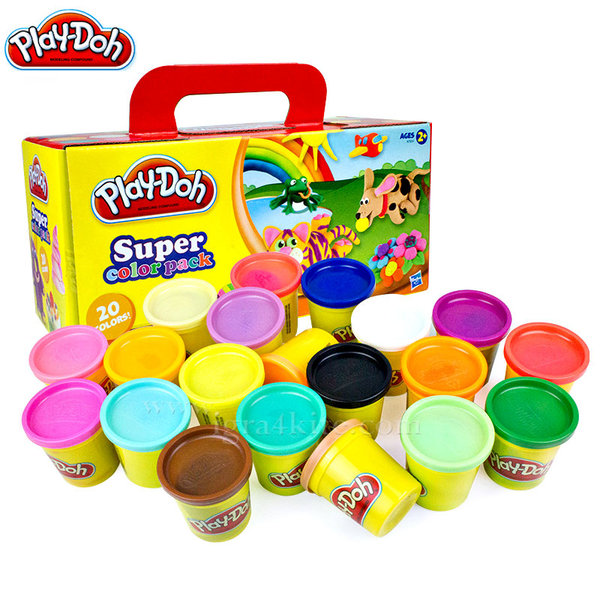 Playdoh - Комплект 20 цвята пластелини a7924