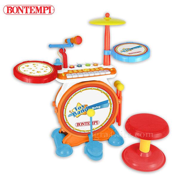 Bontempi - Детски електронен барабан с йоника и микрофон 191269