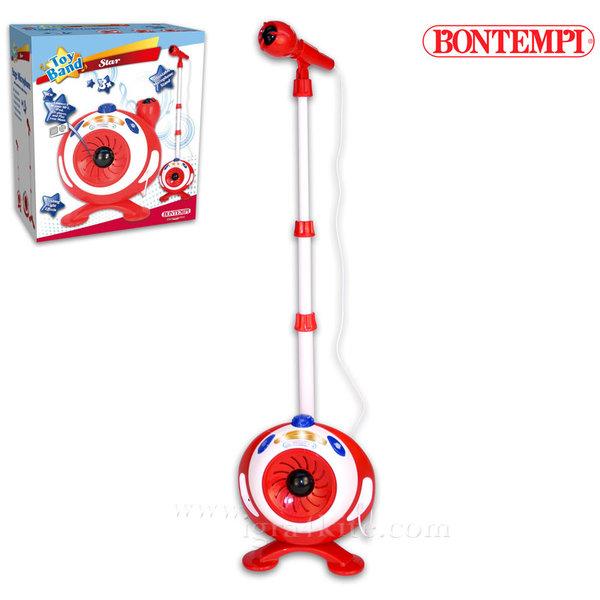 Bontempi - Детски микрофон на стойка с усилвател 191272
