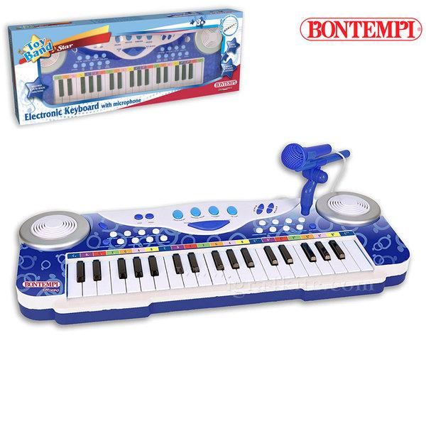 Bontempi - Детски синтезатор с микрофон 191274