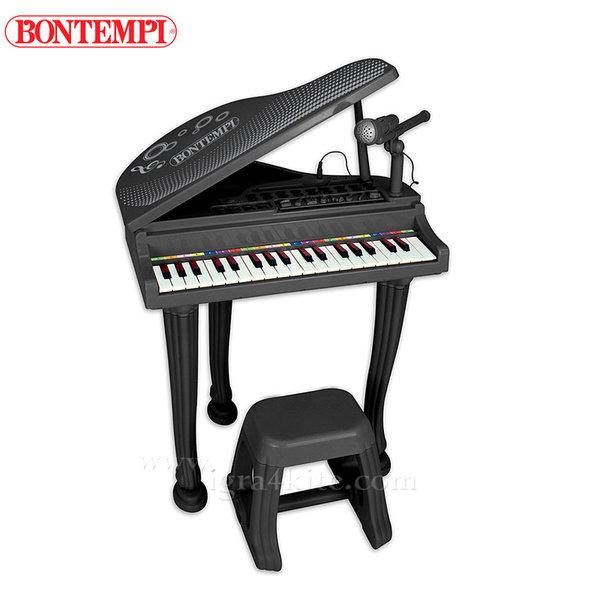Bontempi - Детски роял с микрофон и столче 191275