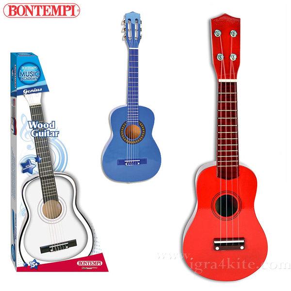 Bontempi - Детска дървена китара 75см 191291